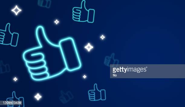 social media thumbs up like background - like button stock illustrations
