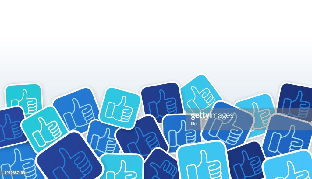 Social Media Thumbs Up Houdt Achtergrond : Stockillustraties
