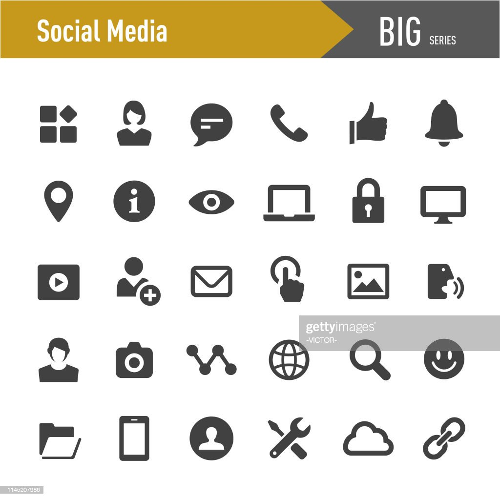 ソーシャルメディアツールアイコン-ビッグシリーズ : ストックイラストレーション
