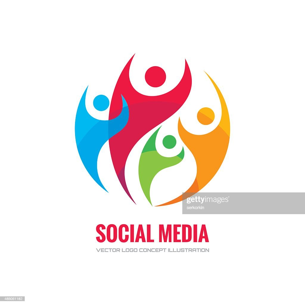 Social media - vector concept illustration.