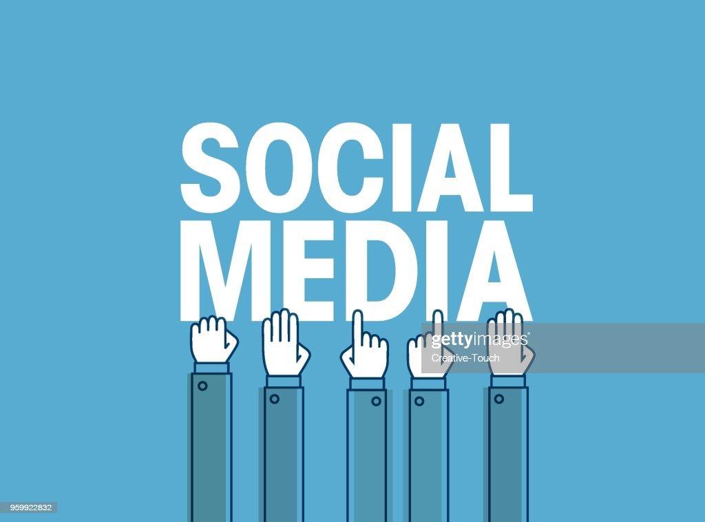 Social Medien  : Stock-Illustration