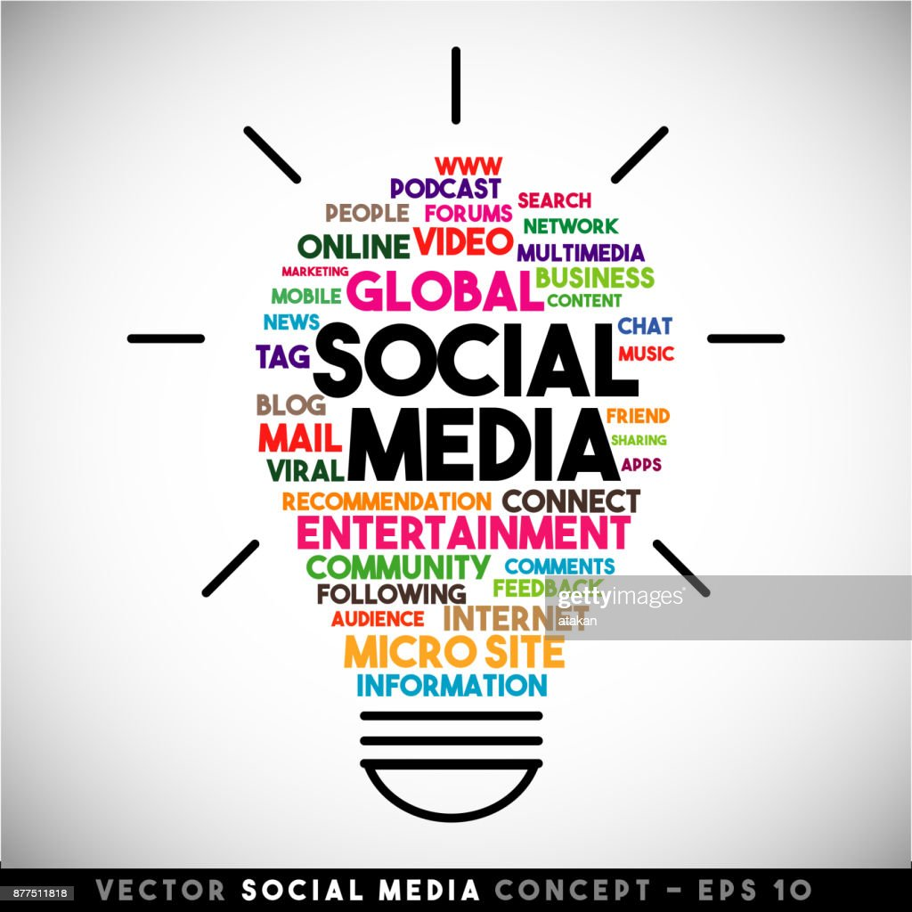 Social media vector light bulb idea concept