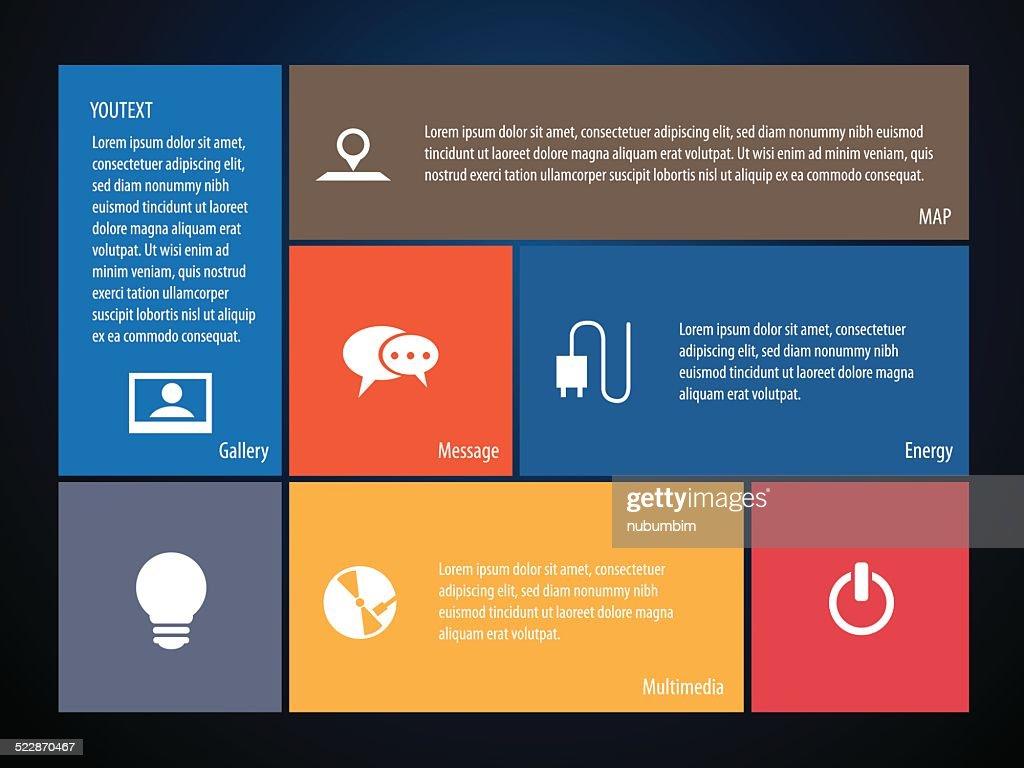 Social Media Website Template Vector Art Getty Images