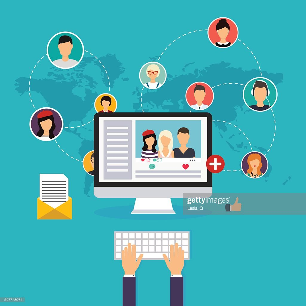 Social network and teamwork concept for web and info graphic.