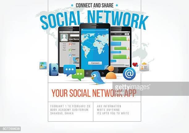 Social network app design page