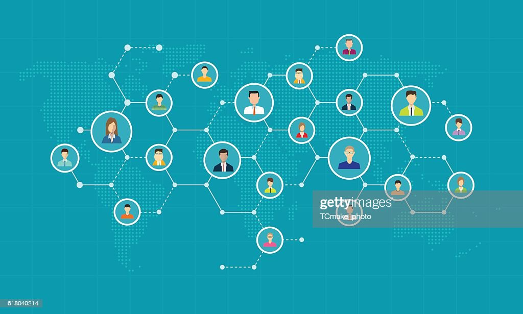 social network connection for online business background
