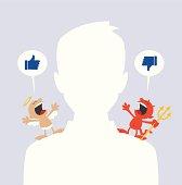 Social network dilemma