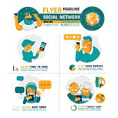 Social Network Family Care Infographics