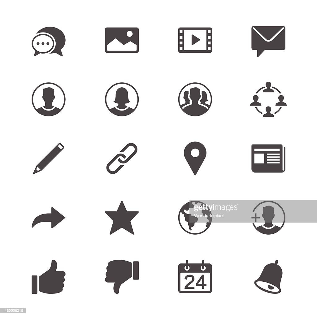 Social network flat icons