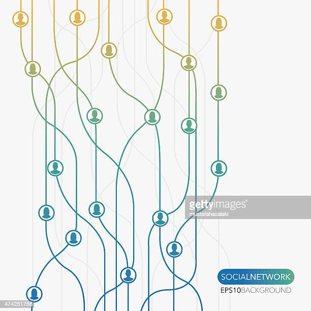 Social network flow minimal background