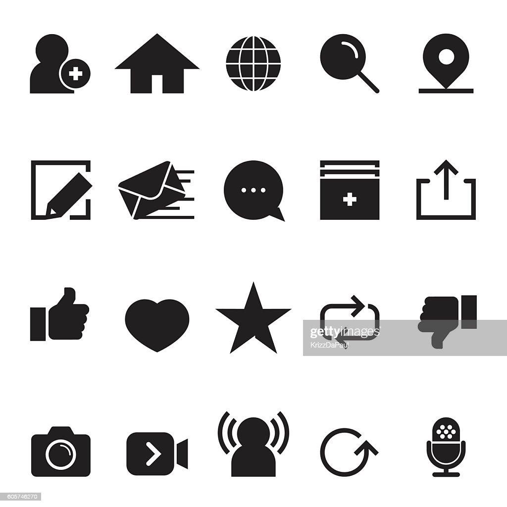 Social Network Icons [Black Edition]