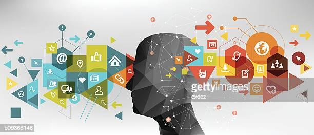 social network idea - gesturing stock illustrations, clip art, cartoons, & icons