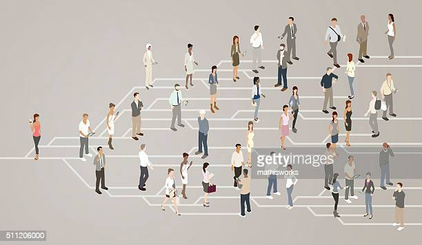 Social network illustration