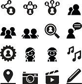 Social network , Social media icon set