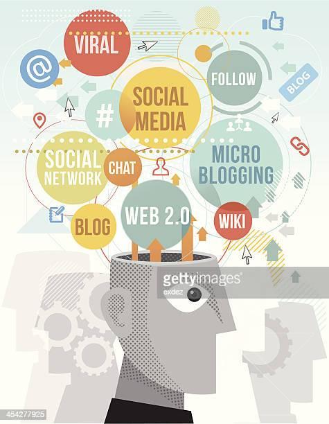 illustrations, cliparts, dessins animés et icônes de réseau social conditions - chat profil