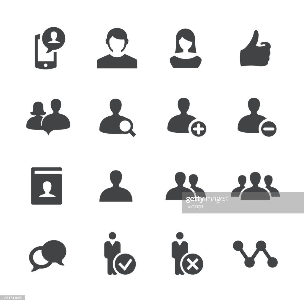 Iconos de usuario de red social - serie Acme : Ilustración de stock