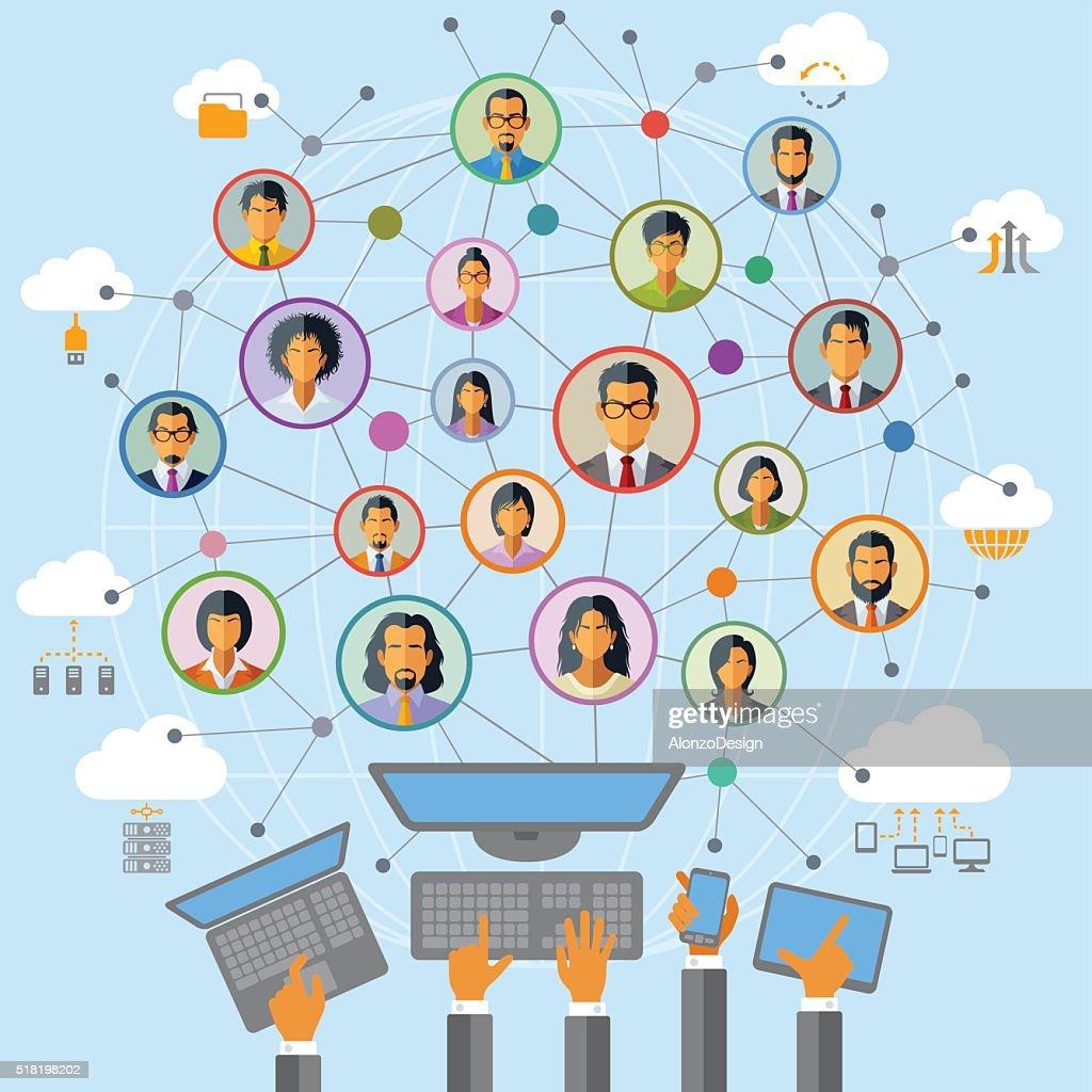 Social Network : stock vector