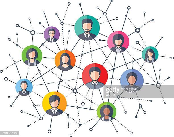 social network - partnership teamwork stock illustrations