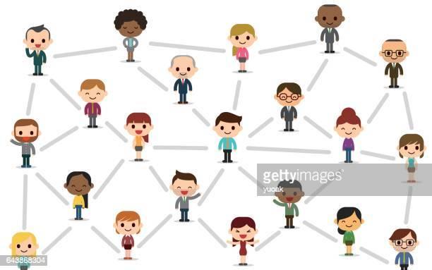illustrations, cliparts, dessins animés et icônes de réseau social  - profession supérieure ou intermédiaire