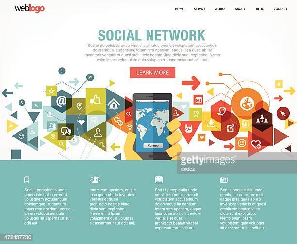 Social network web design layout