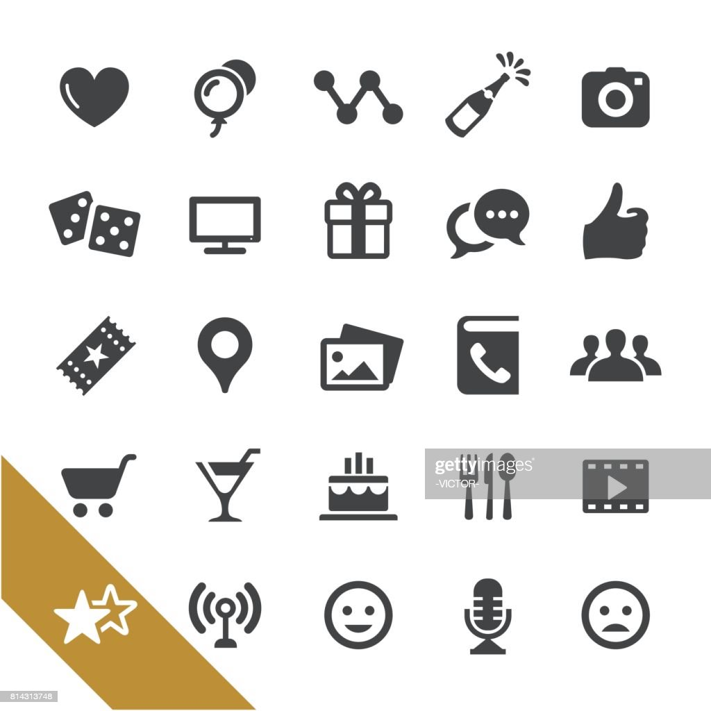 Social Networking and Entertainment Icons - Select Series