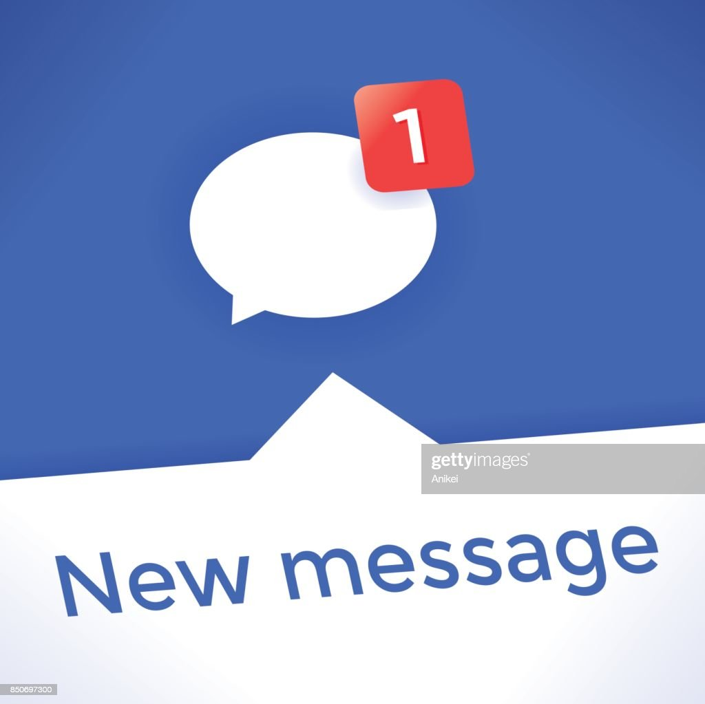Social Networking Chat Icon With New Message Symbol Idea Online