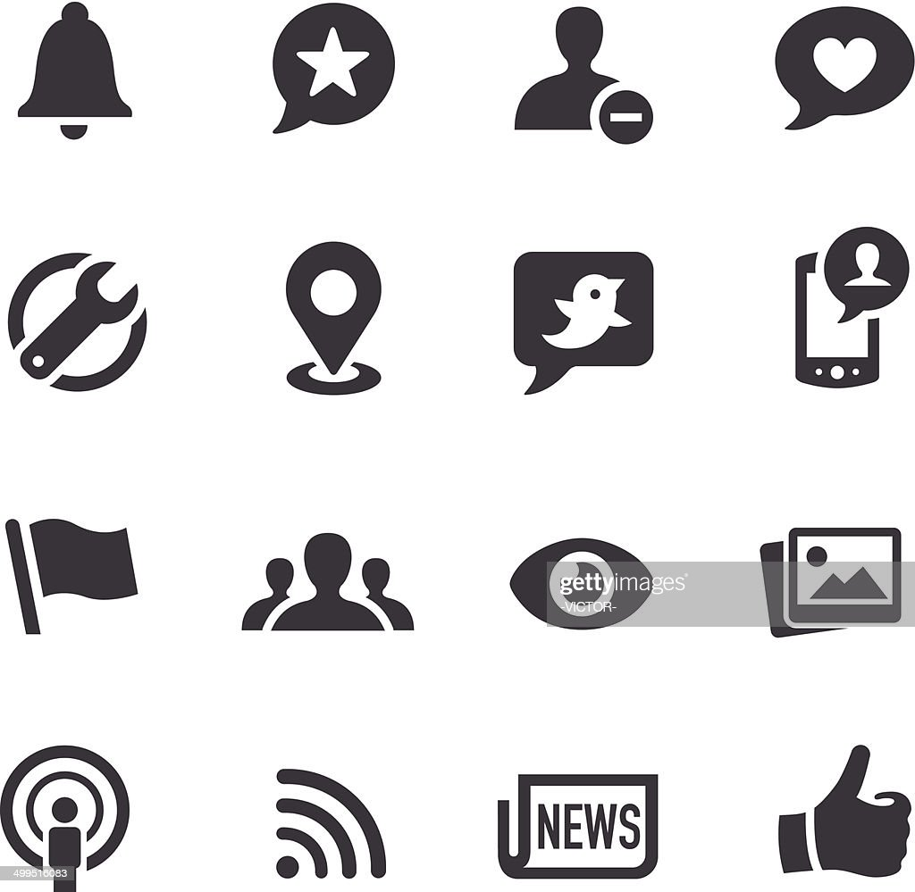 Social Networking Icons - Acme Series : stock illustration