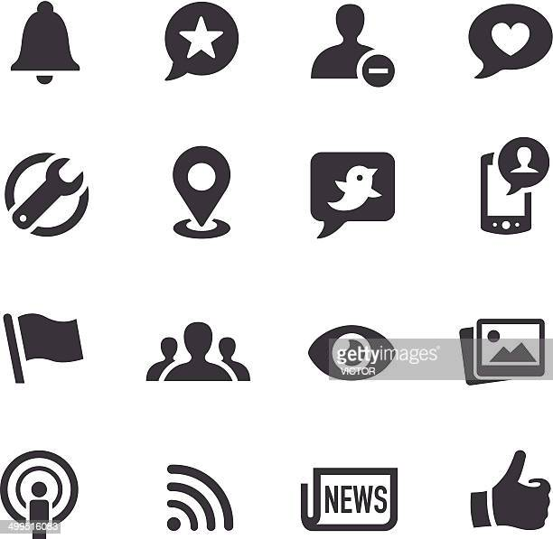 social networking icons - acme series - bell stock illustrations