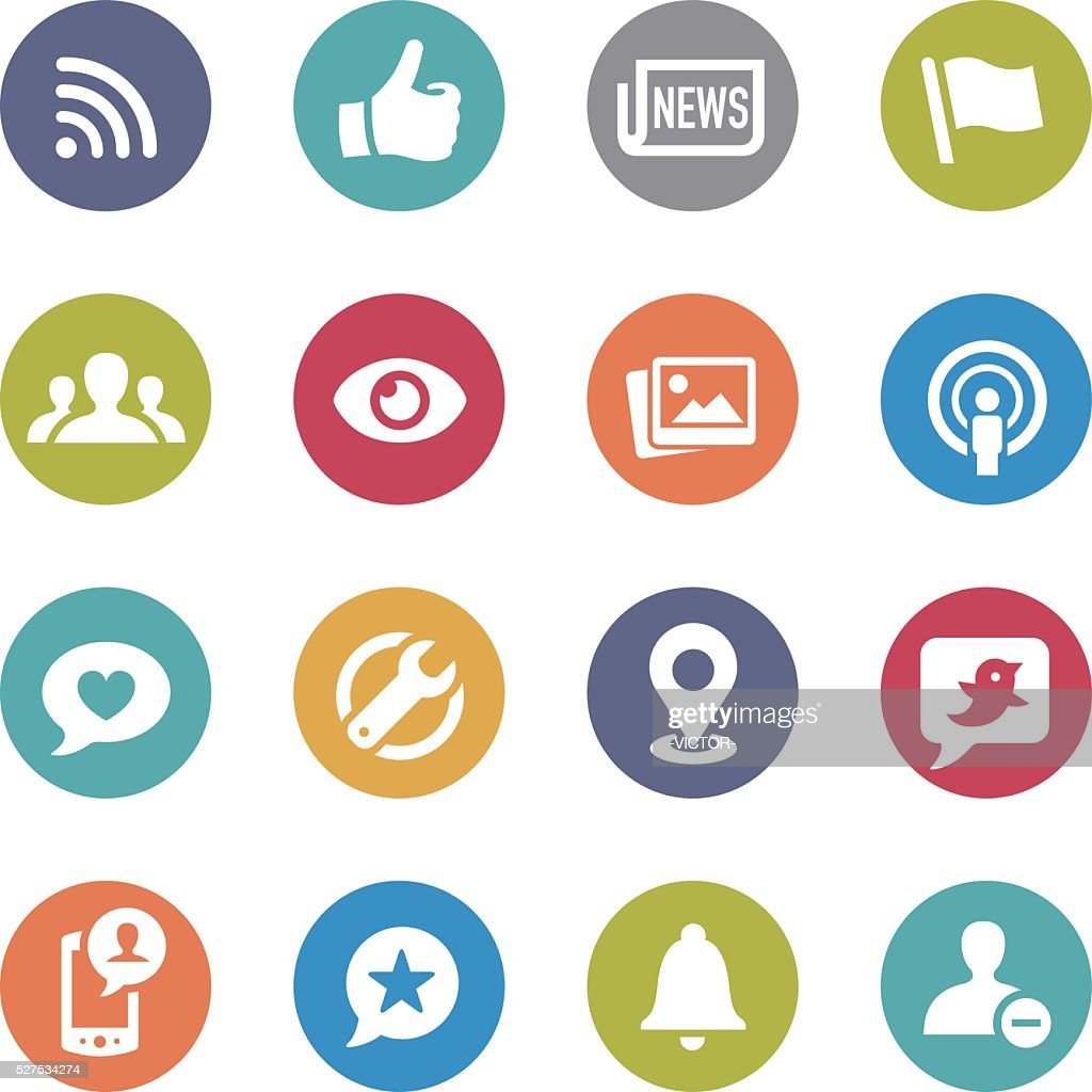 Social Networking Icons - Circle Series