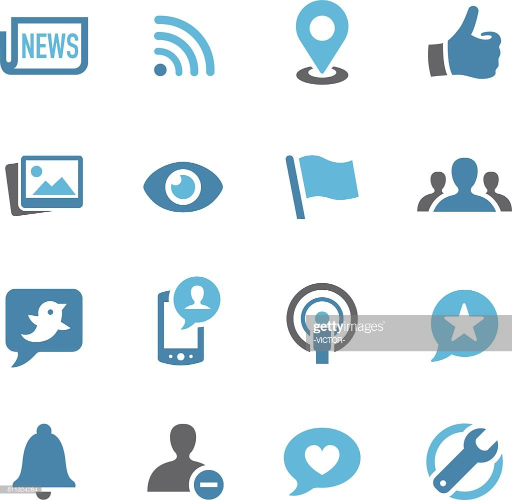 Social Networking Icons - Conc Series : stock illustration