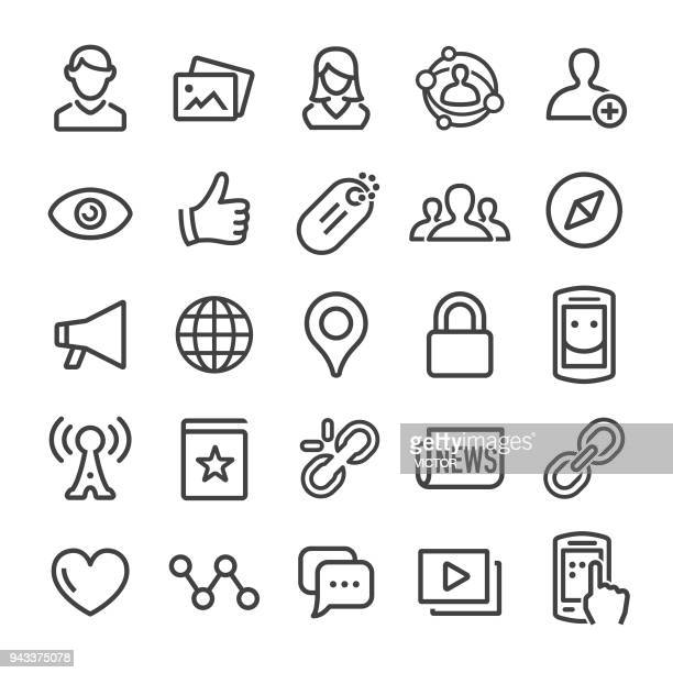 Social Networking Icons - Smart Line Series