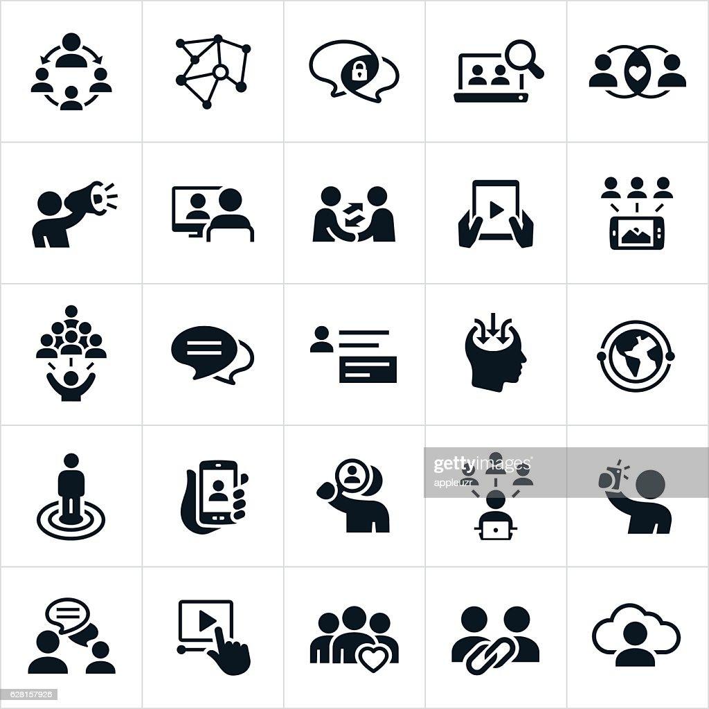 Iconos de redes sociales : Ilustración de stock