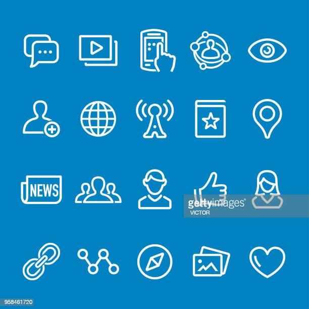 Social Networking Icons - Vector Smart Line Series