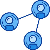 Social networking line icon