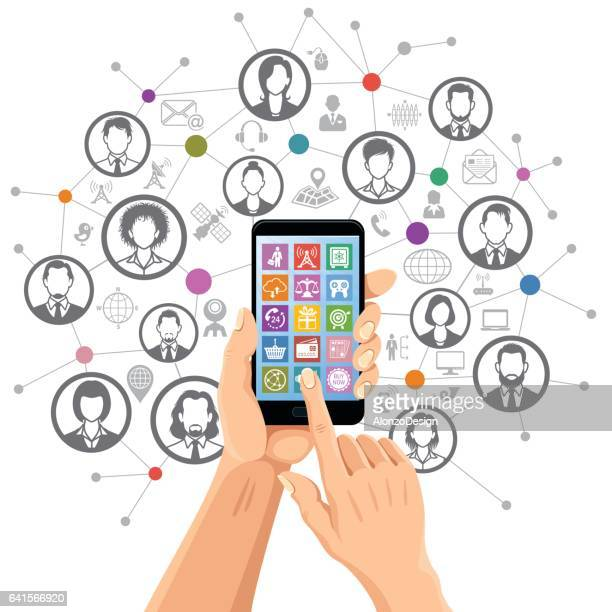 Social networking on mobile phone