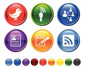 social networking royalty free vector icon set