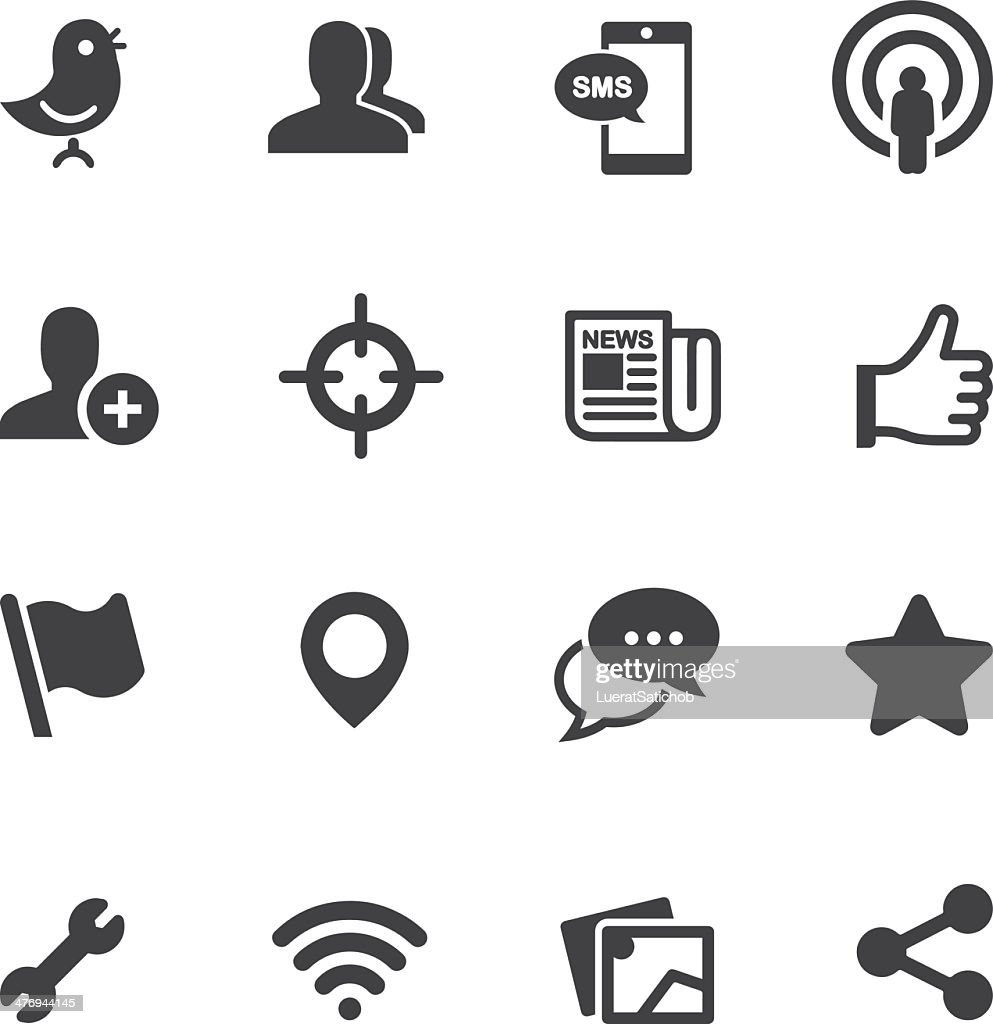 Social Networking Silhouette icons