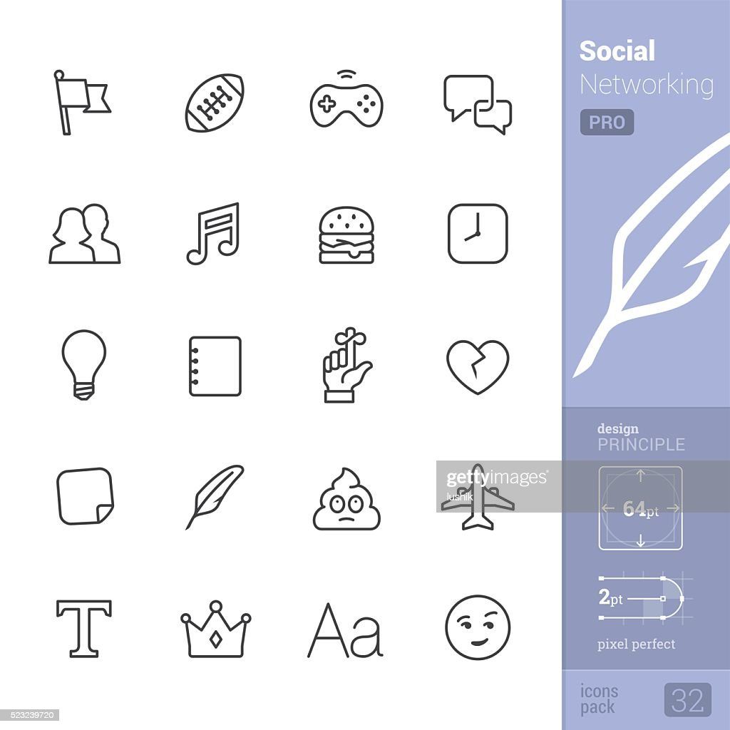 Social Networking vector icons - PRO pack