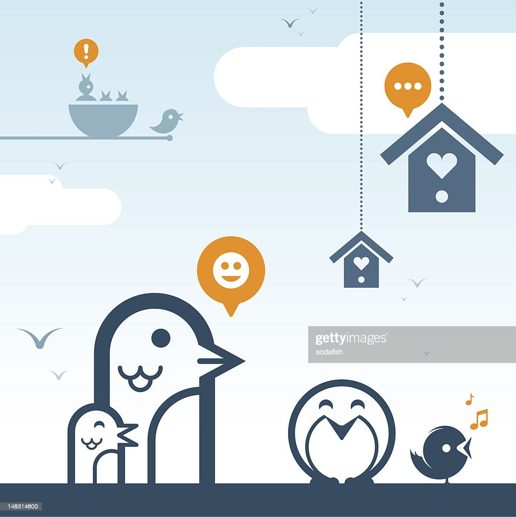 Social networking : Vektorgrafik