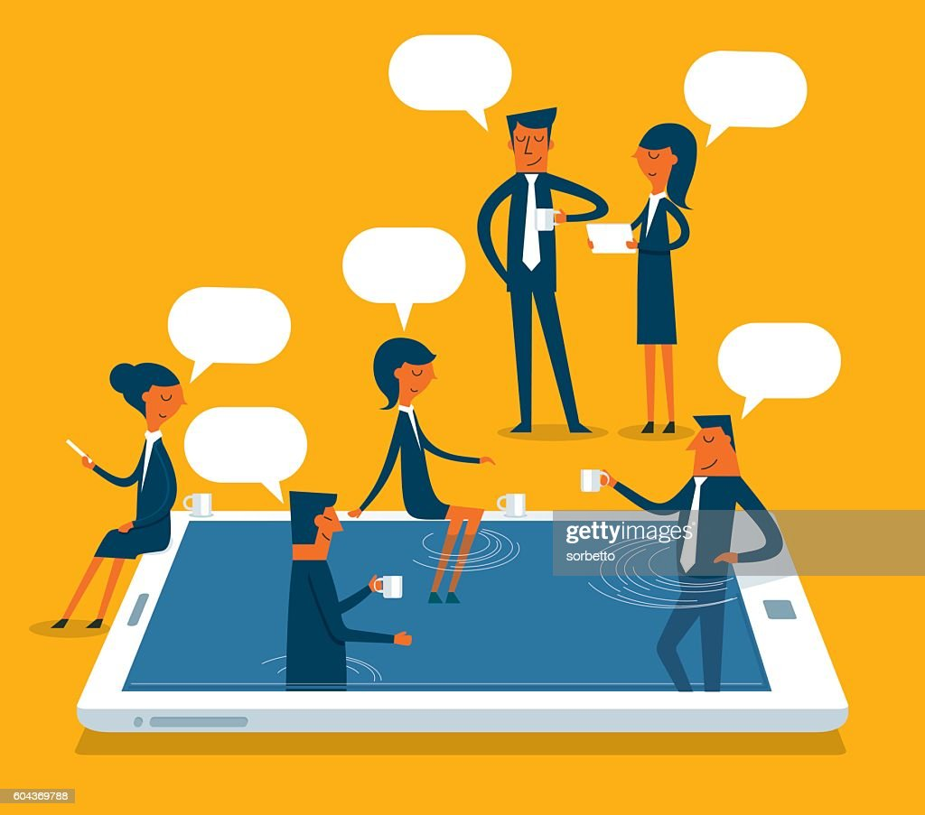 Social Networking : stock illustration