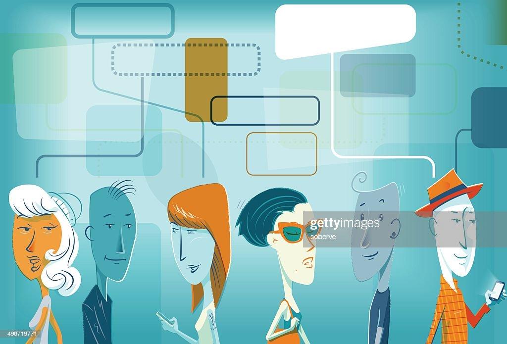 Social People : stock illustration