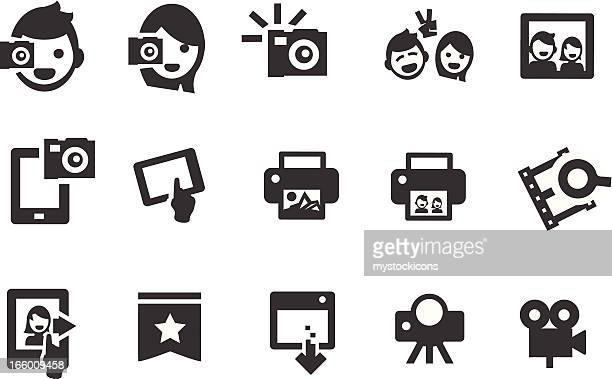 social photograpy icons - polaroid stock illustrations, clip art, cartoons, & icons