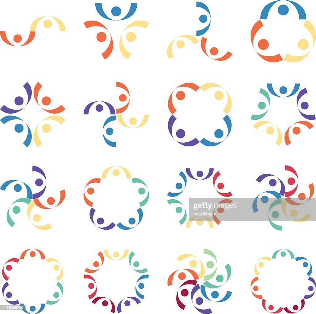 Social relationship logo and icon. Vector illustration