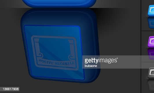 Social Security Card 3d Button Design High Res Vector Graphic Getty Images