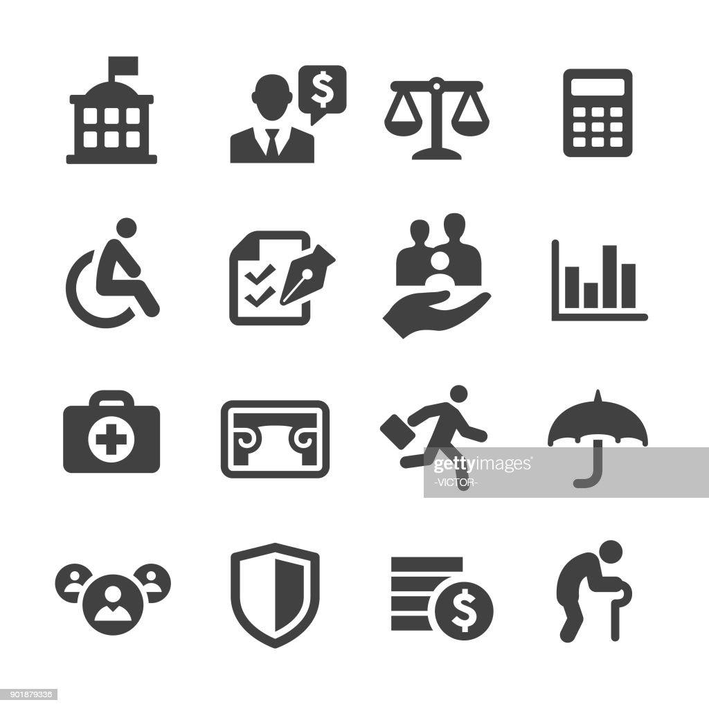 Segurança social Icons - série Acme : Ilustração