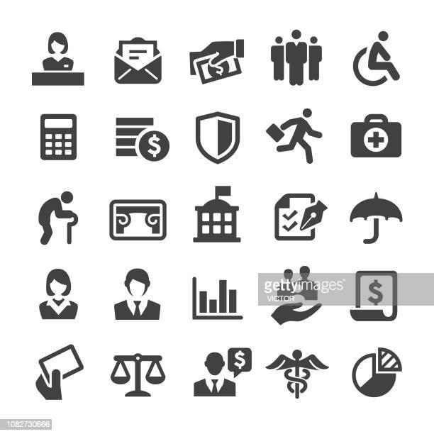 ilustrações de stock, clip art, desenhos animados e ícones de social security icons - smart series - cidadania
