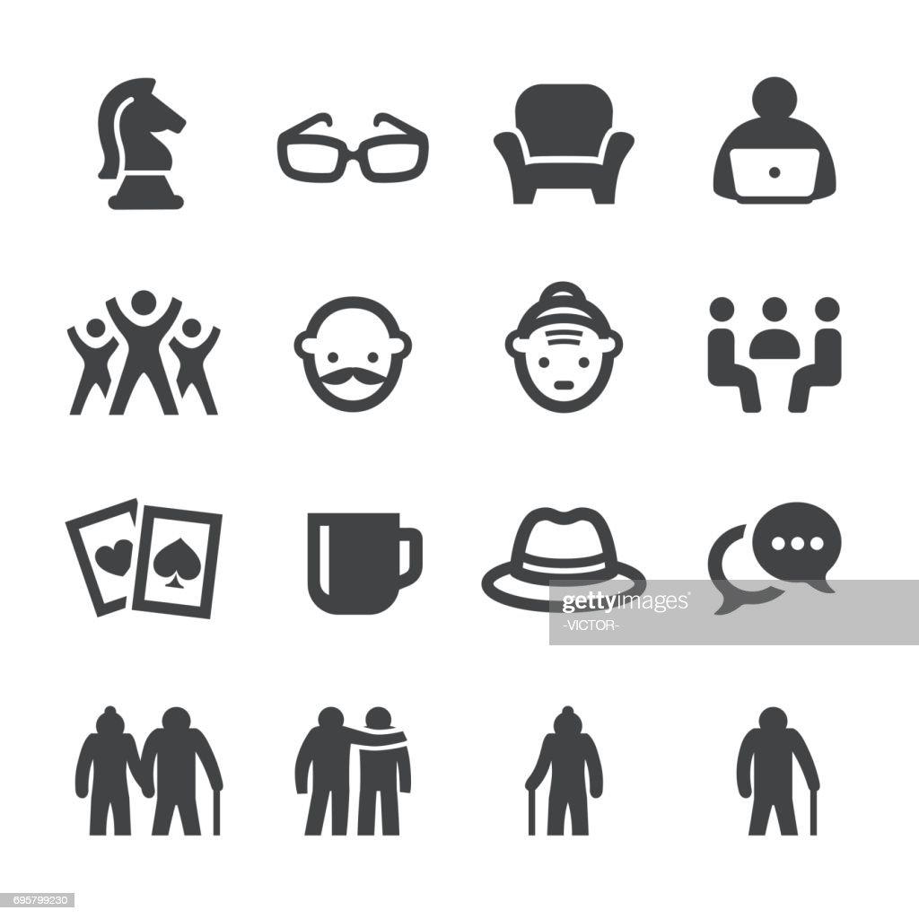 Social Seniors Icons - Acme Series