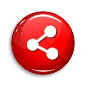 Social Share Round Vector Web Element Circular Button Icon Design