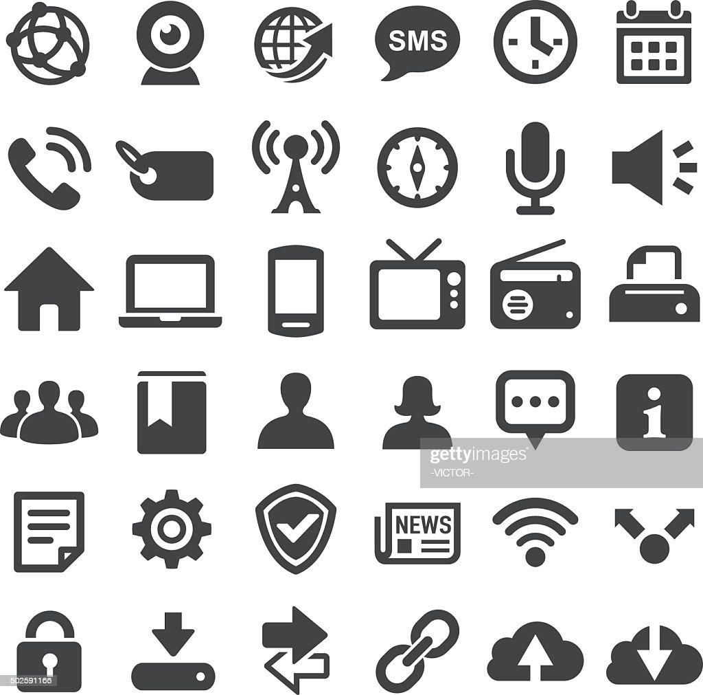 Social Technology Icons - Big Series : Stockillustraties