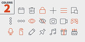 Social UI Pixel Perfect Well-crafted Vector Thin Line Icons 48x48 Ready for 24x24 Grid for Web Graphics and Apps with Editable Stroke. Simple Minimal Pictogram Part 3-3